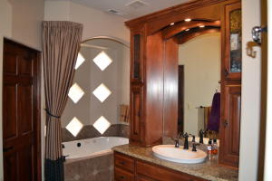 His and Her Areas in Master Bath