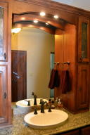 Master bath has granite counters
