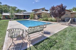 Large backyard with gunite pool