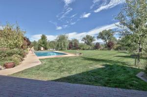 Large backyard with pool
