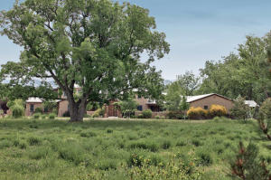 Front pasture and residence