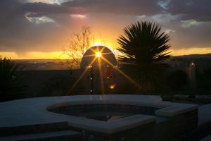 Backyard Gate at Sun Set