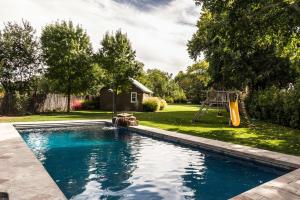 Pool and grass beyond