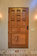 Elegant Carved Entry Door