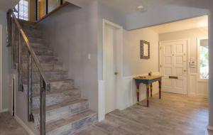 elegant flooring and bannister