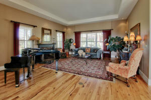 Large Living Room with Hickory Floors