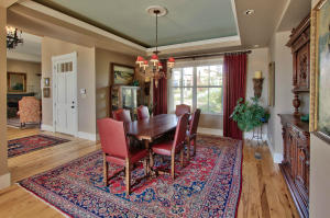 Spacious Dining Room w Coved Ceiling