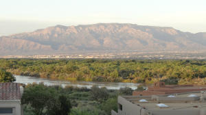 View of Mountains & River from residence