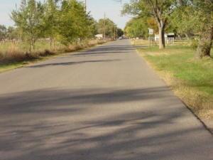 Paved Road facing north