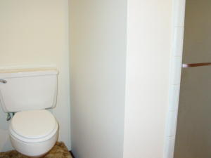 Toilet in Master Bath is  elevated