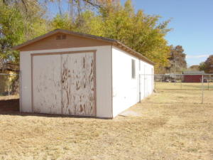 One of the storage sheds.