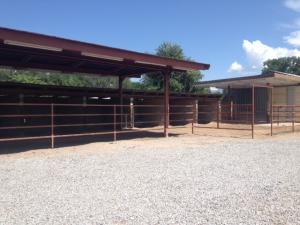 cinderblock walled stall and turnout 1 -