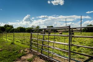 Gated pasture