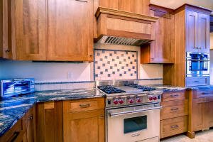 Kitchen with Wolf Range