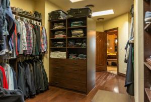 Master closet - His