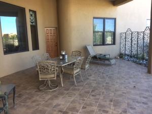 patio off of breakfast nook