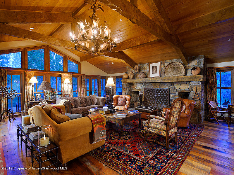 Located on 6 acres in Woody Creek, this extraordinary riverfront home features an interior design by Linda Bedell, quality antiques, and decor by Ralph ...