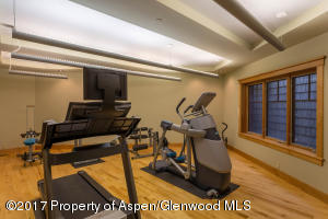 Lower level exercise room