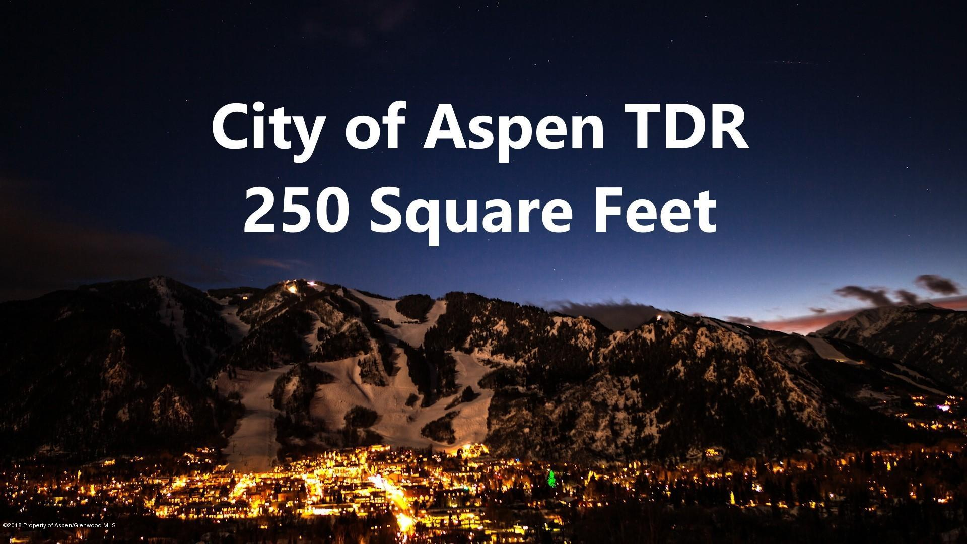 TDR City City of Aspen - Central Core, Colorado