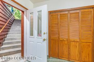 Separate, heated stairs & entry, down