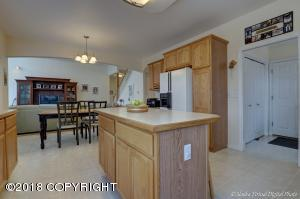 Island and Desk in the Kitchen