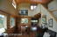 Vaulted Dining/Living spaces