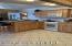 Roomy hickory kitchen