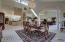 Dining room w/loft