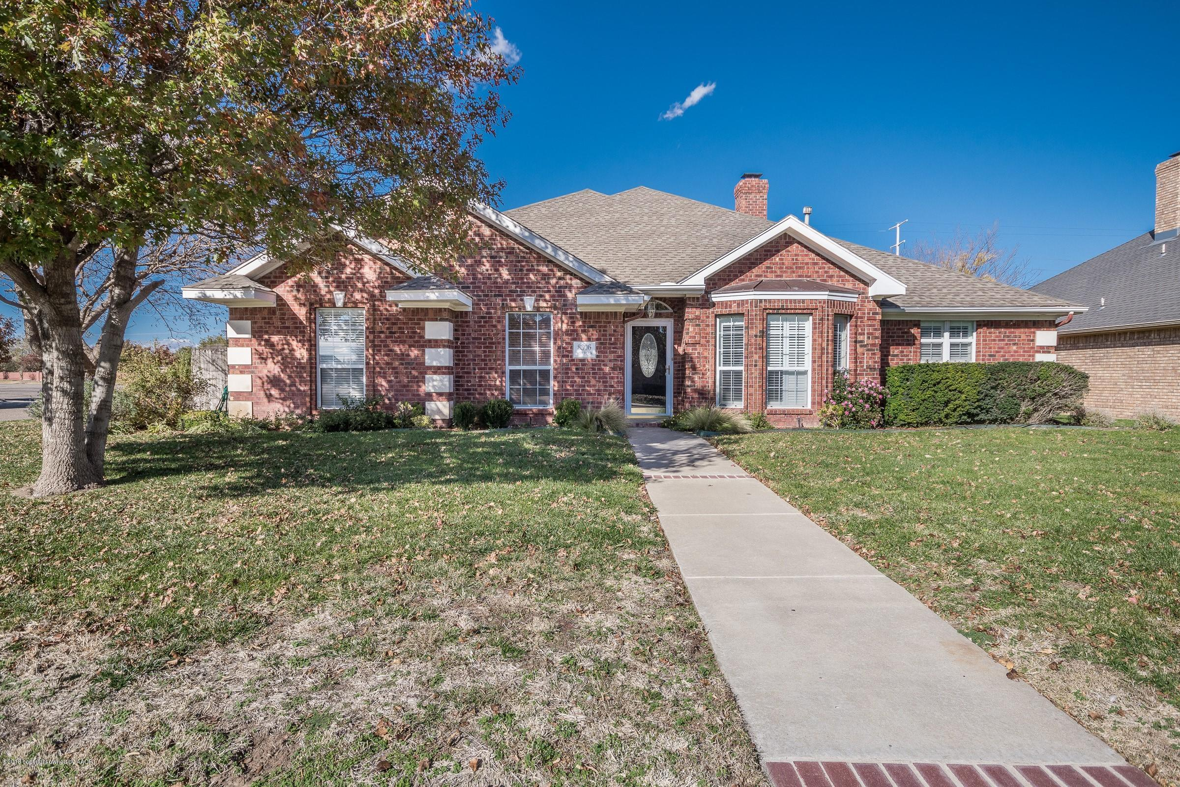 One of Amarillo 4 Bedroom Homes for Sale at 8306 NORFOLK DR