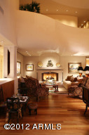 Great Room's fireplace conversation area