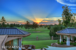 Sunset over the Adobe Golf Course