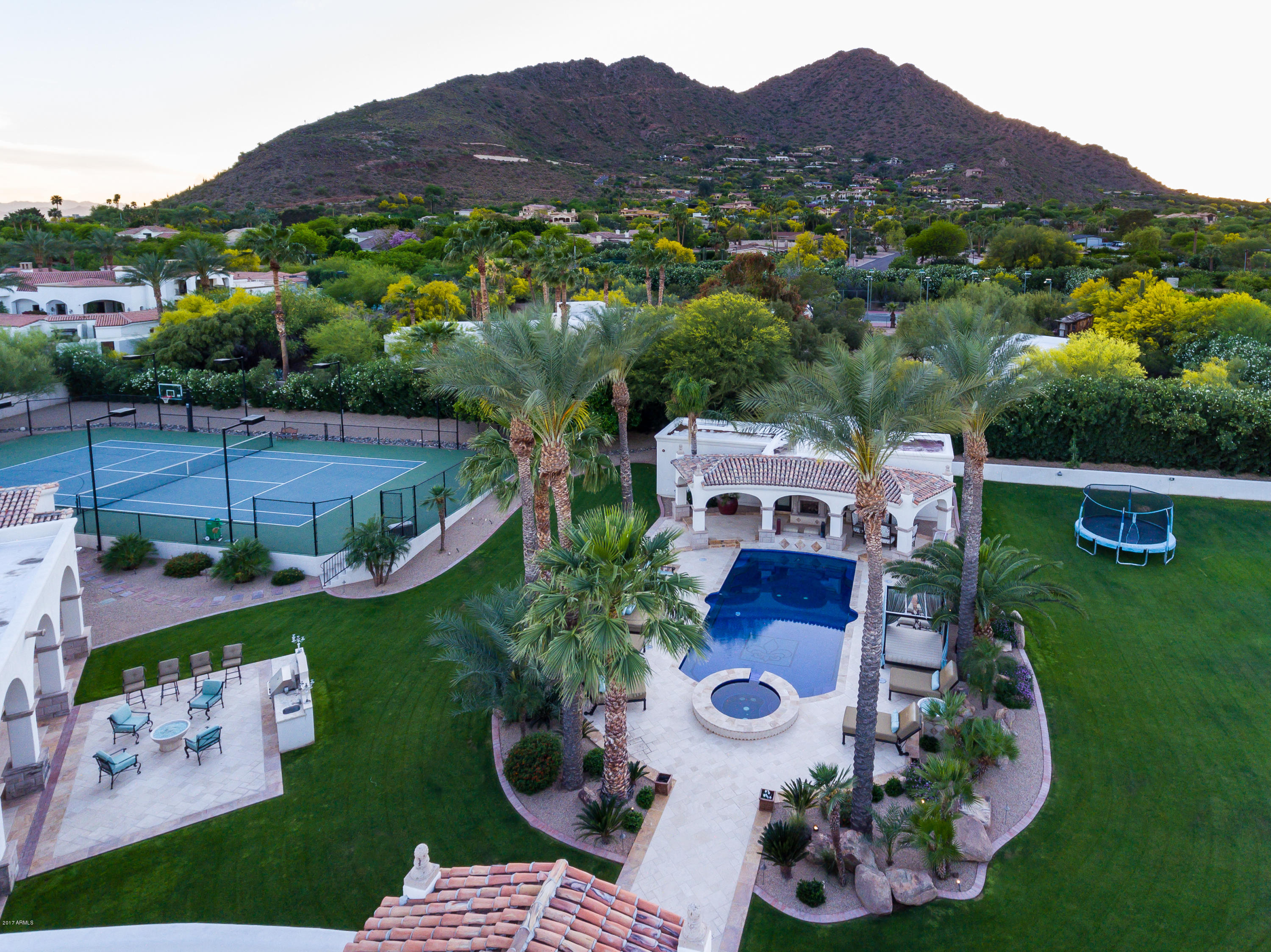 MLS 5552247 5312 N Wilkinson Road, Paradise Valley, AZ 85253 Paradise Valley AZ Tennis Court