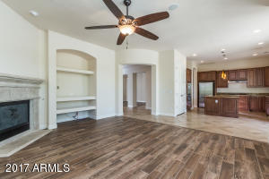 Great room flows into kitchen.