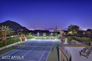 Tennis Court City Lights