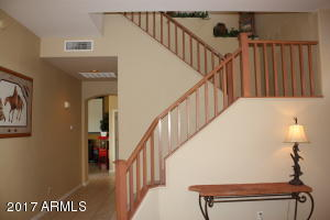 Stairway upgraded banister stair rails
