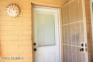 Kitchen door to patio