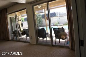 Living room pool view