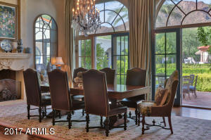 Dining Room with 4 sets of French Foors
