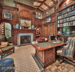 Walnut Paneled Library