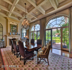 Dining Room's Coffered Ceiling