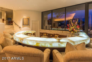 Underlit Onyx Wet Bar