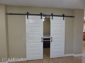 Barn Doors to fourth bedroom