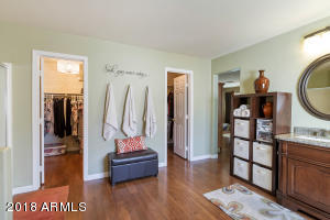 Master his & hers closets