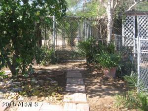fenced garden areas