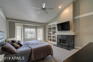 Master w/French Doors & Fireplace
