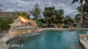 Water Feature with Fire Pit