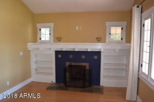 100 W. Palm fireplace with built ins