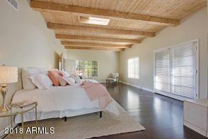 Wood Beamed Master Suite