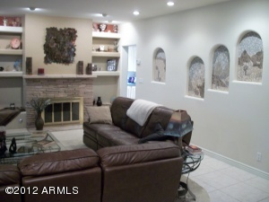 Living Room with Custom Wall Inserts