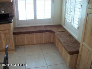 Corner Bench Seat in Kitchen